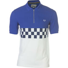 Fred Perry USA Checkerboard Cycling Shirt - Short Sleeve - Men's