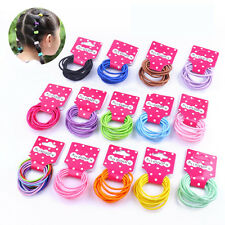 30 PCS Thick Endless Snag Free Hair Elastics Bobbles Bands Pony Tails Colours UK