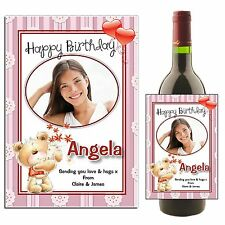 Personalised Wine Champagne Bottle Label HAPPY BIRTHDAY N44 ~ Great Gift Idea