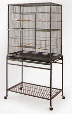 New Bird Parrot Cage Cockatiel Conure Large Wrought Iron Flight cage BLK/WTY-087