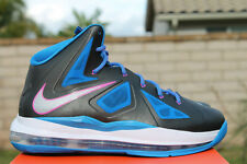 Youth / Womens Nike Lebron X 10 Easter Sneakers New, Black Blue 543564-005
