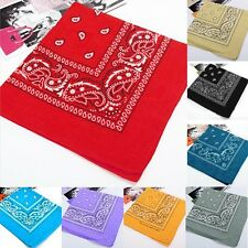 Cotton Head Wrap Paisley Bandana Headwrap Neck Scarf Wristband Handkerchief