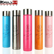 070350Womens Cute Lovely Slim Stainless Steel Vacuum Thermos Travel Water Bottle
