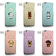 CASE88 Art Collections Hand Drawing Cartoon Puppy Design Hard Phone Case Cover
