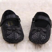 Infant Baby Girl Mary Jane Shoes Soft Sole Bling Sequin Prewalker Crib Shoes T28