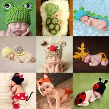 Newborn Baby Dog Infant Knitted Crochet Costume Photo Photography Prop Hot