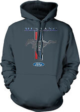 Ford Mustang Racing Stripes Pony Chrome American Muscle Shelby Mens Sweatshirt
