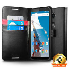 Spigen® Motorola Google Nexus 6 Case Wallet S [Black][Wallet Case]