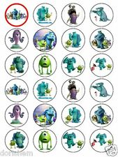 Edible Top- 24 Round MONSTERS INC -Wafer/ Rice Paper -Cupcake Topper