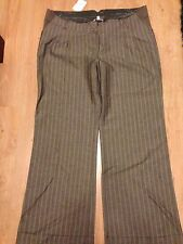 BNWT MAMAS AND PAPAS MATERNITY WIDE LEG BROWN TROUSERS STRIPE SIZE 16 18 20