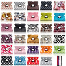 """For Amazon 2013 Kindle Fire HD 7"""" Magnetic 360 Rotating Leather Smart Case Cover"""