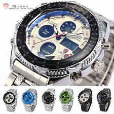 Eightgill SHARK Military LED Date Day Analog Army Sport Mens Quartz Wrist Watch