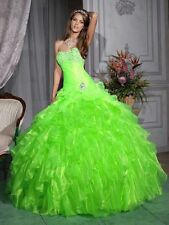 STOCK Ball Gown 15 Quinceanera Dress Formal Party Evening Pageant Evening Dress