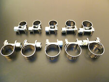 HOSE PIPE CLAMPS - UK STAINLESS STEEL - MINI CLIP TYPE - 6 To 17 mm - Buy 3 - 25