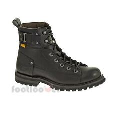 Shoes Cat Caterpillar Brent P717831 ankle boots man black nubuck greased