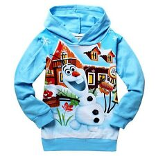 BOYS GIRLS FROZEN OLAF HOODIES JUMPERS 2-10 YEARS *UK STOCK*