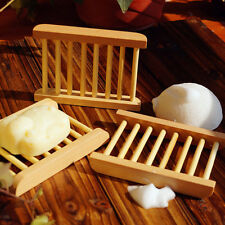 Bathroom Shower Wooden Soap Dishes Washing Container Box Bamboo Holder