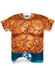 Adult Marvel Comics Fantastic Four The Thing Orange Costume Performance T-Shirt