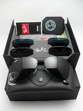 Ray Ban RB 3460 002/71 Aviator Flip Out Black 3 Interchangeable Lenses POLARIZED