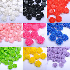 New Resin Rose Flower Coral Spacer beads for DIY 10mm,12mm,15mm