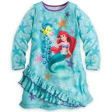 NWT Disney Store The Little Mermaid Ariel Nightgown Nightshirt Long Sleeve NEW