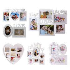 White Shabby Chic Multi Image Aperture Photo Frames Picture Collage Ornate Style