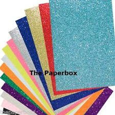 A4 Soft Touch Glitter Card - Choice of Colours & Pack Size