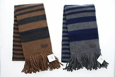 New Coach 83139 Men's Vicuna Knit Stripe Wool Cashmere Tassled Scarf $198