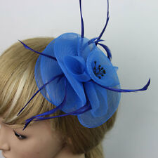 Charming Women Hairclip Head Mesh Flower Feather For Wedding Party Hairpin Decor