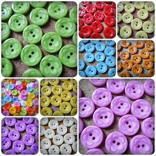 20 x 2-Hole Acrylic Buttons - Round - 12mm - Flower Design [Various Colours]