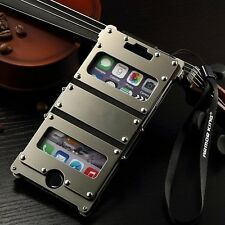 Armor Luxury Leather Metal Aluminum Case Cover For Apple iPhone 6 / 6 Plus