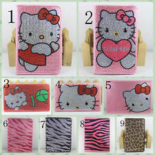 Bling crystal Hello Kitty Minnie Mouse leather PU case for Samsung Galaxy tablet