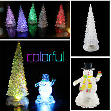 COLOR CHANGING ORNAMENT LED LIGHT UP GLITTER CHRISTMAS XMAS GLITTER DECORATION