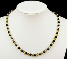 Natural Baltic Amber Adult Round  Beads Necklace in any Color You Choose