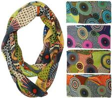 Fashion Sunflower Print Jersey Knit Cotton Scarves Circle Snood Loop Scarf Wraps