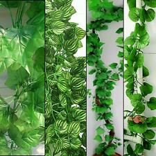 10x Silk Leaf Leaves Faux Artificial Ivy Vine Plant For Wedding Party Home Decor