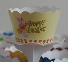 "12 KIDS Party ""HAPPY EASTER"" Cupcake Wrappers-WORLDWIDE FREE SHIPPING"