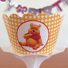 """12 kids Party """"WINNIE THE POOH"""" Cupcake Wrappers - WORLDWIDE FREE SHIPPING"""