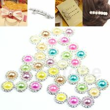 DIY 4/20/40pcs Rhinestone Pearl Round Button Sewing Craft Wedding Embellishment
