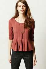 NWT Anthropologie Pleated Peplum Pullover by Saturday Sunday, S, M, was $68