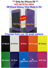 3M Glossy Vinyl - For * iPhone 5S * Full Body Vinyl Decal Skin Sticker