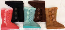 NEW Girls Pageant Winter A33K Faux UGG Fur Lined 3 Buttons Tall Round Toe Boots
