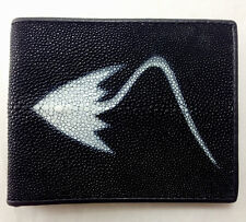 NEW! GENUINE STINGRAY LEATHER MEN WALLET,BI-FOLD ,ID CARD HOLDER (C)