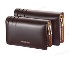 Men's Real Leather Business Clutch Wrist Bag Handbag Organizers Briefcase Wallet