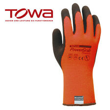TOWA PowerGrab Thermo orange Arbeitshandschuhe Gr. 7 - 11 je 24 Paar