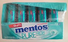 10/15 Pack Mentos Wintergreen Chewing Gum,Pure Fresh,Breath,Green Tea Extract