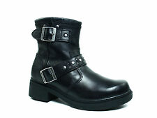 Harley Davidson Womens  Motorcycle Riding Fashion Ankle Zip  Black Leather  Boot