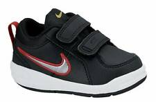 NEW INFANT BOYS NIKE PICO 4 VELCRO SHOES SNEAKERS (BLACK/RED) RRP:$60