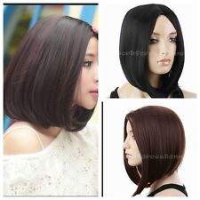 Fashion Women's Ladies Short Bob Straight Cosplay Costume Full Wig/Wigs+FREE Cap
