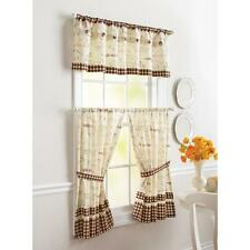 COFFEE BEAN FRENCH BISTRO CAFE Kitchen VALANCE or TIERS Window Treatments Curtai
